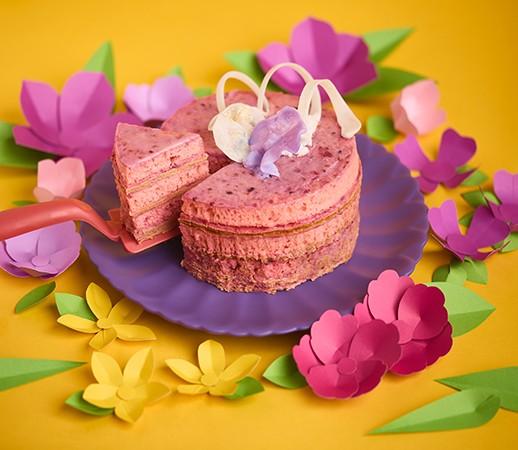 Pequeño Pastel Berry Blossom